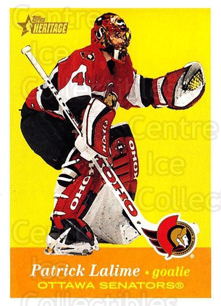 2001-02 Topps Heritage #83 Patrick Lalime<br/>6 In Stock - $1.00 each - <a href=https://centericecollectibles.foxycart.com/cart?name=2001-02%20Topps%20Heritage%20%2383%20Patrick%20Lalime...&quantity_max=6&price=$1.00&code=319705 class=foxycart> Buy it now! </a>