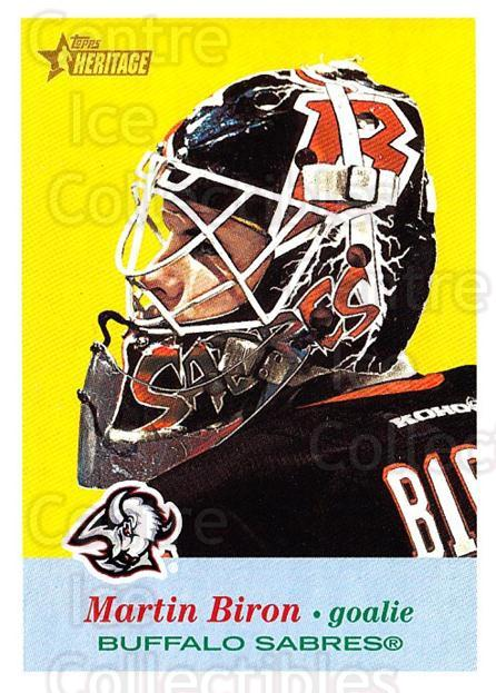 2001-02 Topps Heritage #107 Martin Biron<br/>7 In Stock - $1.00 each - <a href=https://centericecollectibles.foxycart.com/cart?name=2001-02%20Topps%20Heritage%20%23107%20Martin%20Biron...&quantity_max=7&price=$1.00&code=319729 class=foxycart> Buy it now! </a>