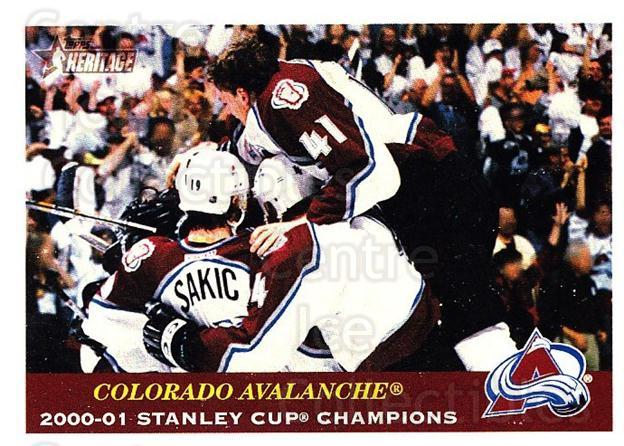 2001-02 Topps Heritage #111 Colorado Avalanche, Joe Sakic<br/>2 In Stock - $2.00 each - <a href=https://centericecollectibles.foxycart.com/cart?name=2001-02%20Topps%20Heritage%20%23111%20Colorado%20Avalan...&quantity_max=2&price=$2.00&code=319733 class=foxycart> Buy it now! </a>