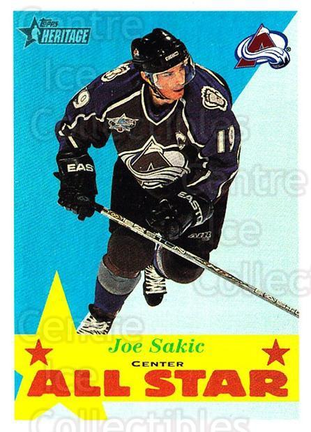 2001-02 Topps Heritage #115 Joe Sakic<br/>6 In Stock - $2.00 each - <a href=https://centericecollectibles.foxycart.com/cart?name=2001-02%20Topps%20Heritage%20%23115%20Joe%20Sakic...&quantity_max=6&price=$2.00&code=319737 class=foxycart> Buy it now! </a>