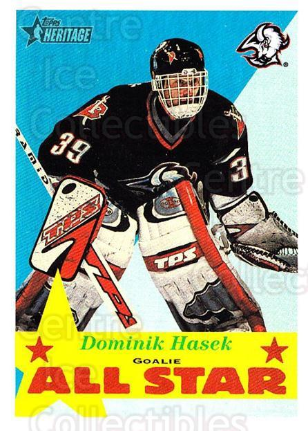 2001-02 Topps Heritage #116 Dominik Hasek<br/>3 In Stock - $1.00 each - <a href=https://centericecollectibles.foxycart.com/cart?name=2001-02%20Topps%20Heritage%20%23116%20Dominik%20Hasek...&quantity_max=3&price=$1.00&code=319738 class=foxycart> Buy it now! </a>