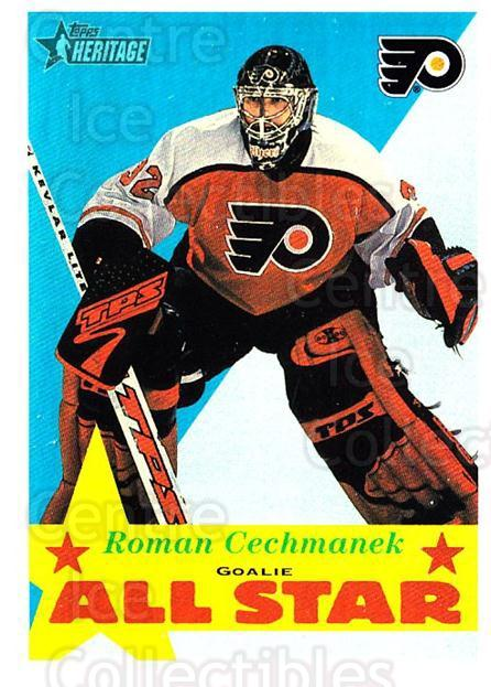 2001-02 Topps Heritage #119 Roman Cechmanek<br/>1 In Stock - $1.00 each - <a href=https://centericecollectibles.foxycart.com/cart?name=2001-02%20Topps%20Heritage%20%23119%20Roman%20Cechmanek...&quantity_max=1&price=$1.00&code=319741 class=foxycart> Buy it now! </a>
