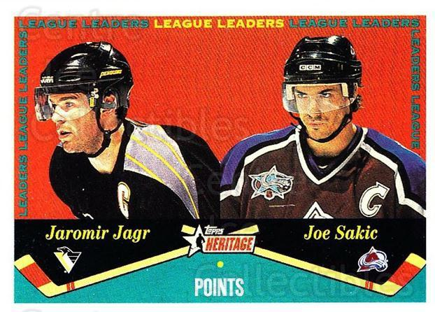 2001-02 Topps Heritage #123 Jaromir Jagr, Joe Sakic<br/>6 In Stock - $2.00 each - <a href=https://centericecollectibles.foxycart.com/cart?name=2001-02%20Topps%20Heritage%20%23123%20Jaromir%20Jagr,%20J...&quantity_max=6&price=$2.00&code=319745 class=foxycart> Buy it now! </a>