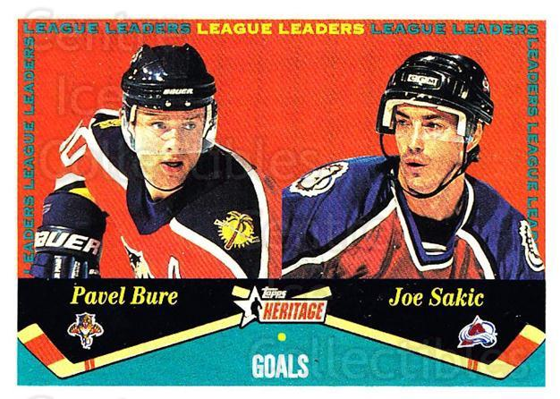 2001-02 Topps Heritage #124 Pavel Bure, Joe Sakic<br/>6 In Stock - $2.00 each - <a href=https://centericecollectibles.foxycart.com/cart?name=2001-02%20Topps%20Heritage%20%23124%20Pavel%20Bure,%20Joe...&quantity_max=6&price=$2.00&code=319746 class=foxycart> Buy it now! </a>