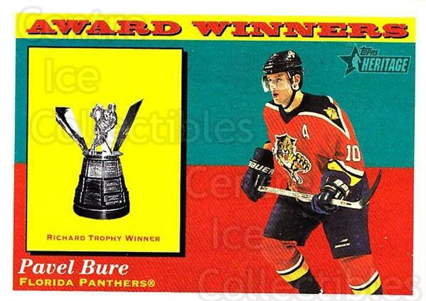 2001-02 Topps Heritage #132 Pavel Bure, Maurice Richard Trophy<br/>7 In Stock - $1.00 each - <a href=https://centericecollectibles.foxycart.com/cart?name=2001-02%20Topps%20Heritage%20%23132%20Pavel%20Bure,%20Mau...&quantity_max=7&price=$1.00&code=319754 class=foxycart> Buy it now! </a>