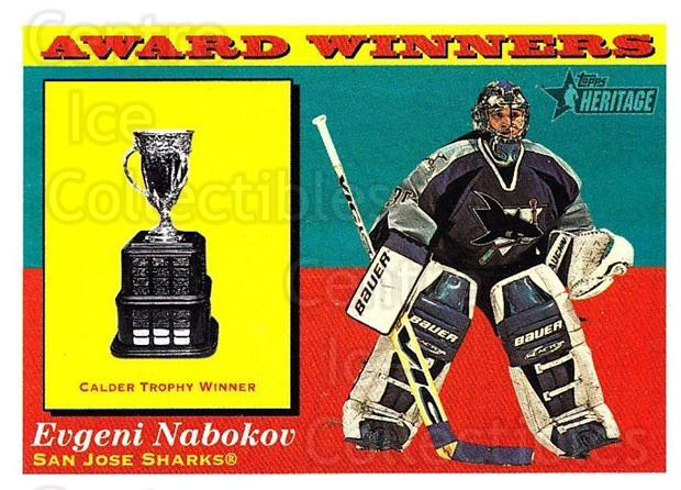 2001-02 Topps Heritage #133 Evgeni Nabokov, Calder Trophy<br/>6 In Stock - $1.00 each - <a href=https://centericecollectibles.foxycart.com/cart?name=2001-02%20Topps%20Heritage%20%23133%20Evgeni%20Nabokov,...&quantity_max=6&price=$1.00&code=319755 class=foxycart> Buy it now! </a>
