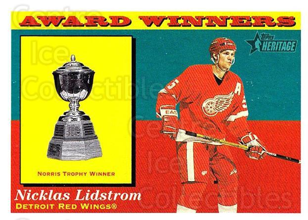 2001-02 Topps Heritage #134 Nicklas Lidstrom, Norris Trophy<br/>7 In Stock - $1.00 each - <a href=https://centericecollectibles.foxycart.com/cart?name=2001-02%20Topps%20Heritage%20%23134%20Nicklas%20Lidstro...&quantity_max=7&price=$1.00&code=319756 class=foxycart> Buy it now! </a>