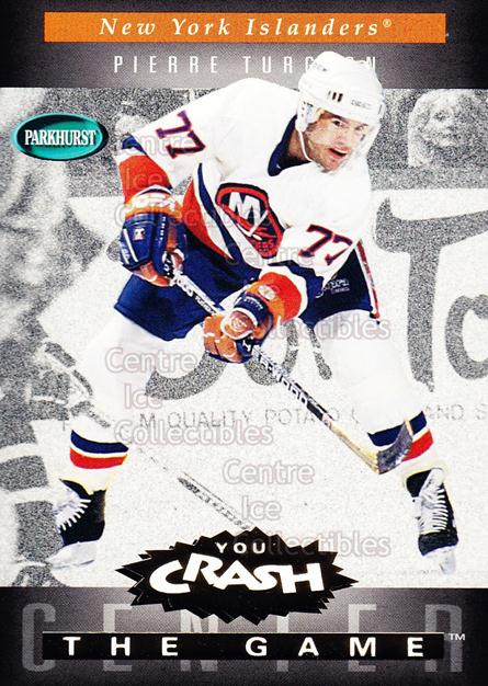 1994-95 Parkhurst Crash the Game Gold #G14 Pierre Turgeon<br/>9 In Stock - $1.00 each - <a href=https://centericecollectibles.foxycart.com/cart?name=1994-95%20Parkhurst%20Crash%20the%20Game%20Gold%20%23G14%20Pierre%20Turgeon...&quantity_max=9&price=$1.00&code=32071 class=foxycart> Buy it now! </a>