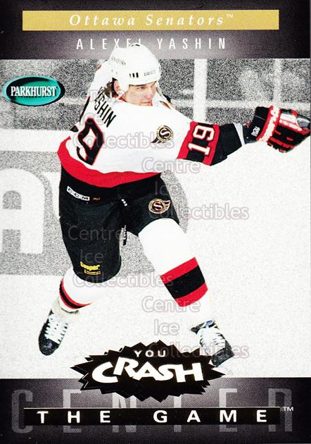 1994-95 Parkhurst Crash the Game Gold #G16 Alexei Yashin<br/>8 In Stock - $1.00 each - <a href=https://centericecollectibles.foxycart.com/cart?name=1994-95%20Parkhurst%20Crash%20the%20Game%20Gold%20%23G16%20Alexei%20Yashin...&quantity_max=8&price=$1.00&code=32073 class=foxycart> Buy it now! </a>