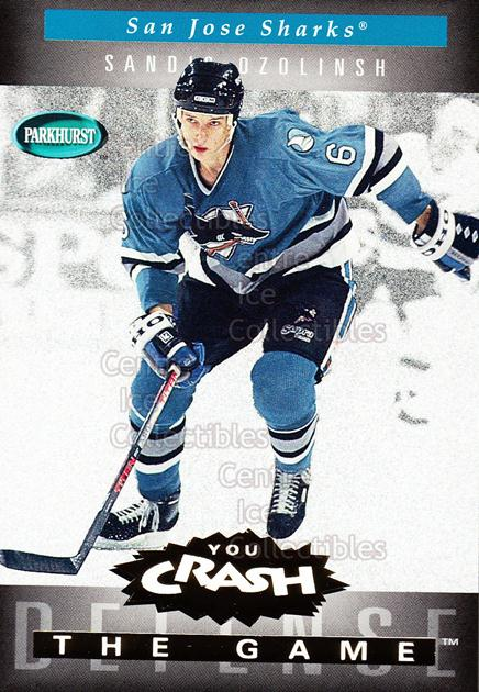 1994-95 Parkhurst Crash the Game Gold #G21 Sandis Ozolinsh<br/>9 In Stock - $1.00 each - <a href=https://centericecollectibles.foxycart.com/cart?name=1994-95%20Parkhurst%20Crash%20the%20Game%20Gold%20%23G21%20Sandis%20Ozolinsh...&quantity_max=9&price=$1.00&code=32076 class=foxycart> Buy it now! </a>