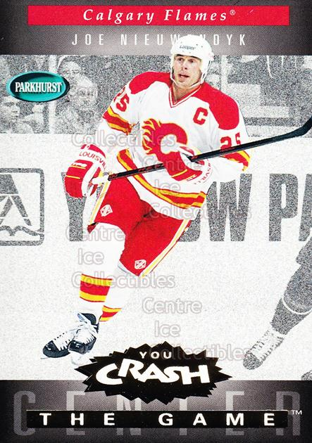1994-95 Parkhurst Crash the Game Gold #G04 Joe Nieuwendyk<br/>9 In Stock - $1.00 each - <a href=https://centericecollectibles.foxycart.com/cart?name=1994-95%20Parkhurst%20Crash%20the%20Game%20Gold%20%23G04%20Joe%20Nieuwendyk...&quantity_max=9&price=$1.00&code=32082 class=foxycart> Buy it now! </a>