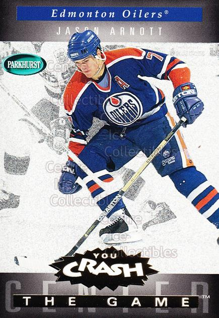 1994-95 Parkhurst Crash the Game Gold #G08 Jason Arnott<br/>9 In Stock - $1.00 each - <a href=https://centericecollectibles.foxycart.com/cart?name=1994-95%20Parkhurst%20Crash%20the%20Game%20Gold%20%23G08%20Jason%20Arnott...&quantity_max=9&price=$1.00&code=32085 class=foxycart> Buy it now! </a>
