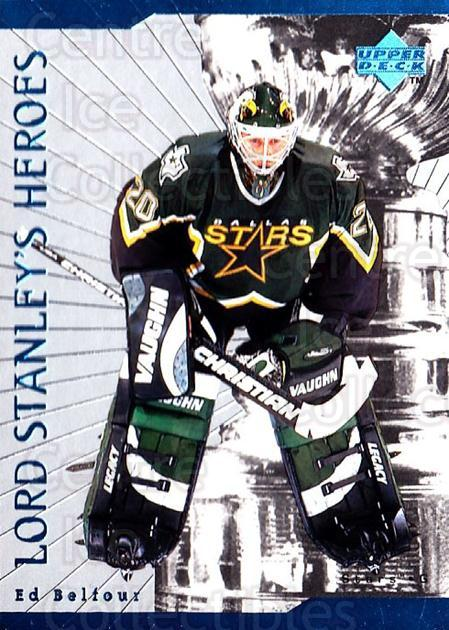 1998-99 Upper Deck Lord Stanleys Heroes #23 Ed Belfour<br/>6 In Stock - $2.00 each - <a href=https://centericecollectibles.foxycart.com/cart?name=1998-99%20Upper%20Deck%20Lord%20Stanleys%20Heroes%20%2323%20Ed%20Belfour...&price=$2.00&code=320903 class=foxycart> Buy it now! </a>
