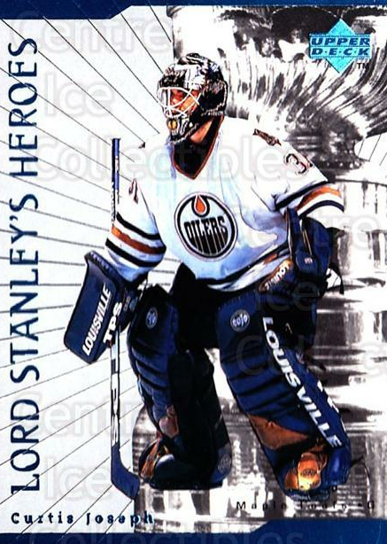1998-99 Upper Deck Lord Stanleys Heroes #29 Curtis Joseph<br/>9 In Stock - $2.00 each - <a href=https://centericecollectibles.foxycart.com/cart?name=1998-99%20Upper%20Deck%20Lord%20Stanleys%20Heroes%20%2329%20Curtis%20Joseph...&quantity_max=9&price=$2.00&code=320909 class=foxycart> Buy it now! </a>