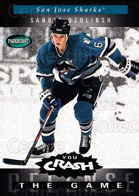 1994-95 Parkhurst Crash the Game Emerald #H21 Sandis Ozolinsh<br/>1 In Stock - $3.00 each - <a href=https://centericecollectibles.foxycart.com/cart?name=1994-95%20Parkhurst%20Crash%20the%20Game%20Emerald%20%23H21%20Sandis%20Ozolinsh...&quantity_max=1&price=$3.00&code=32095 class=foxycart> Buy it now! </a>