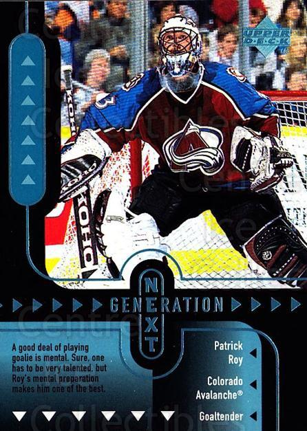 1998-99 Upper Deck Generation Next #8 Jose Theodore, Patrick Roy<br/>2 In Stock - $5.00 each - <a href=https://centericecollectibles.foxycart.com/cart?name=1998-99%20Upper%20Deck%20Generation%20Next%20%238%20Jose%20Theodore,%20...&price=$5.00&code=320978 class=foxycart> Buy it now! </a>