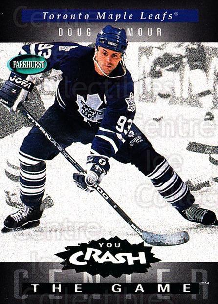 1994-95 Parkhurst Crash the Game Emerald #H23 Doug Gilmour<br/>2 In Stock - $3.00 each - <a href=https://centericecollectibles.foxycart.com/cart?name=1994-95%20Parkhurst%20Crash%20the%20Game%20Emerald%20%23H23%20Doug%20Gilmour...&quantity_max=2&price=$3.00&code=32097 class=foxycart> Buy it now! </a>