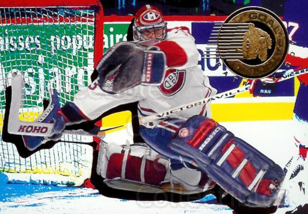 1995-96 Parkhurst Goal Patrol #3 Patrick Roy<br/>2 In Stock - $5.00 each - <a href=https://centericecollectibles.foxycart.com/cart?name=1995-96%20Parkhurst%20Goal%20Patrol%20%233%20Patrick%20Roy...&price=$5.00&code=321086 class=foxycart> Buy it now! </a>