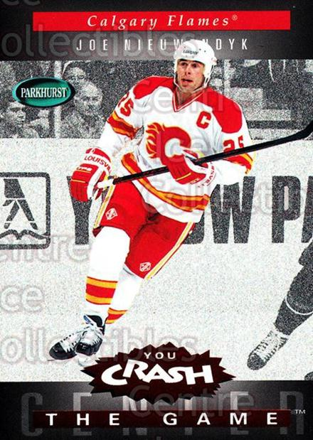 1994-95 Parkhurst Crash the Game Red #C04 Joe Nieuwendyk<br/>1 In Stock - $3.00 each - <a href=https://centericecollectibles.foxycart.com/cart?name=1994-95%20Parkhurst%20Crash%20the%20Game%20Red%20%23C04%20Joe%20Nieuwendyk...&quantity_max=1&price=$3.00&code=32120 class=foxycart> Buy it now! </a>