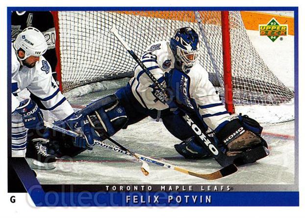 1993-94 Upper Deck #159 Felix Potvin<br/>9 In Stock - $1.00 each - <a href=https://centericecollectibles.foxycart.com/cart?name=1993-94%20Upper%20Deck%20%23159%20Felix%20Potvin...&quantity_max=9&price=$1.00&code=3213 class=foxycart> Buy it now! </a>