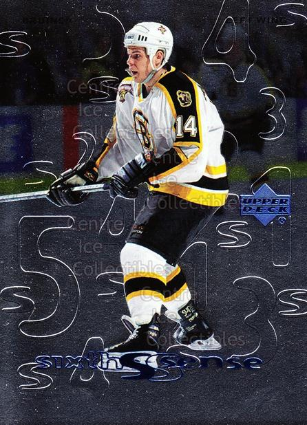 1999-00 Upper Deck Sixth Sense #5 Sergei Samsonov<br/>11 In Stock - $2.00 each - <a href=https://centericecollectibles.foxycart.com/cart?name=1999-00%20Upper%20Deck%20Sixth%20Sense%20%235%20Sergei%20Samsonov...&quantity_max=11&price=$2.00&code=321703 class=foxycart> Buy it now! </a>