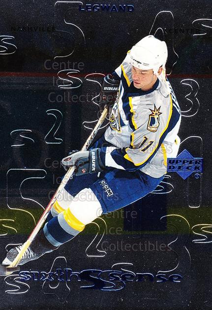 1999-00 Upper Deck Sixth Sense #10 David Legwand<br/>15 In Stock - $2.00 each - <a href=https://centericecollectibles.foxycart.com/cart?name=1999-00%20Upper%20Deck%20Sixth%20Sense%20%2310%20David%20Legwand...&quantity_max=15&price=$2.00&code=321708 class=foxycart> Buy it now! </a>