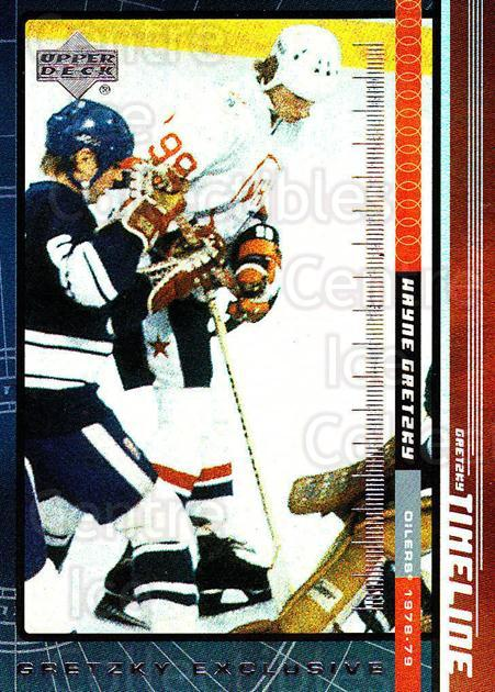 1999-00 Upper Deck Wayne Gretzky Exclusives #6 Wayne Gretzky<br/>2 In Stock - $3.00 each - <a href=https://centericecollectibles.foxycart.com/cart?name=1999-00%20Upper%20Deck%20Wayne%20Gretzky%20Exclusives%20%236%20Wayne%20Gretzky...&quantity_max=2&price=$3.00&code=321862 class=foxycart> Buy it now! </a>