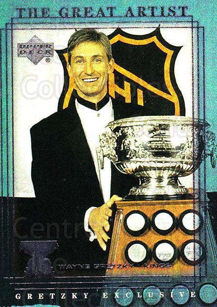 1999-00 Upper Deck Wayne Gretzky Exclusives #56 Wayne Gretzky, Art Ross Trophy<br/>2 In Stock - $2.00 each - <a href=https://centericecollectibles.foxycart.com/cart?name=1999-00%20Upper%20Deck%20Wayne%20Gretzky%20Exclusives%20%2356%20Wayne%20Gretzky,%20...&price=$2.00&code=321883 class=foxycart> Buy it now! </a>