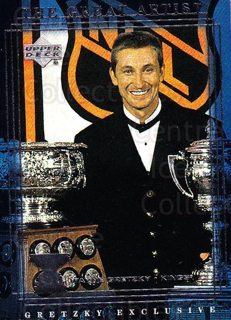 1999-00 Upper Deck Wayne Gretzky Exclusives #57 Wayne Gretzky, Art Ross Trophy<br/>1 In Stock - $2.00 each - <a href=https://centericecollectibles.foxycart.com/cart?name=1999-00%20Upper%20Deck%20Wayne%20Gretzky%20Exclusives%20%2357%20Wayne%20Gretzky,%20...&price=$2.00&code=321884 class=foxycart> Buy it now! </a>