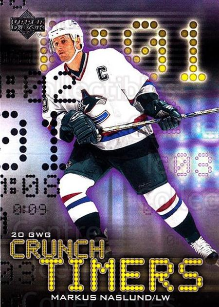 2001-02 Upper Deck Crunch Timers #13 Markus Naslund<br/>4 In Stock - $3.00 each - <a href=https://centericecollectibles.foxycart.com/cart?name=2001-02%20Upper%20Deck%20Crunch%20Timers%20%2313%20Markus%20Naslund...&quantity_max=4&price=$3.00&code=323164 class=foxycart> Buy it now! </a>