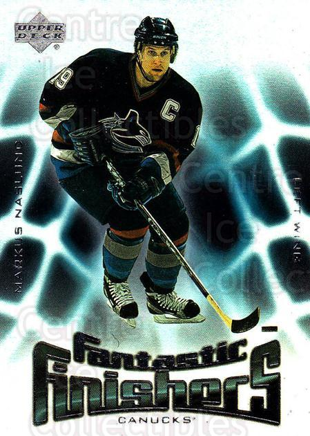 2001-02 Upper Deck Fantastic Finishers #3 Markus Naslund<br/>4 In Stock - $2.00 each - <a href=https://centericecollectibles.foxycart.com/cart?name=2001-02%20Upper%20Deck%20Fantastic%20Finishers%20%233%20Markus%20Naslund...&quantity_max=4&price=$2.00&code=323169 class=foxycart> Buy it now! </a>