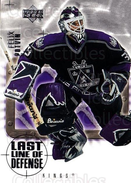 2001-02 Upper Deck Last Line of Defense #4 Felix Potvin<br/>1 In Stock - $3.00 each - <a href=https://centericecollectibles.foxycart.com/cart?name=2001-02%20Upper%20Deck%20Last%20Line%20of%20Defense%20%234%20Felix%20Potvin...&quantity_max=1&price=$3.00&code=323212 class=foxycart> Buy it now! </a>
