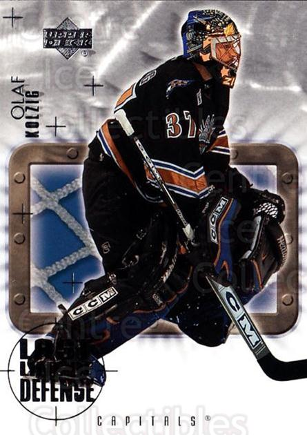 2001-02 Upper Deck Last Line of Defense #10 Olaf Kolzig<br/>3 In Stock - $3.00 each - <a href=https://centericecollectibles.foxycart.com/cart?name=2001-02%20Upper%20Deck%20Last%20Line%20of%20Defense%20%2310%20Olaf%20Kolzig...&quantity_max=3&price=$3.00&code=323218 class=foxycart> Buy it now! </a>