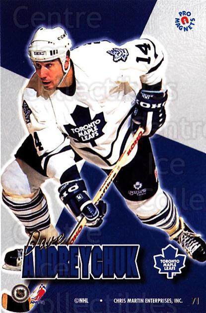 1995-96 Pro Magnets Promo #71 Dave Andreychuk<br/>2 In Stock - $10.00 each - <a href=https://centericecollectibles.foxycart.com/cart?name=1995-96%20Pro%20Magnets%20Promo%20%2371%20Dave%20Andreychuk...&quantity_max=2&price=$10.00&code=324216 class=foxycart> Buy it now! </a>