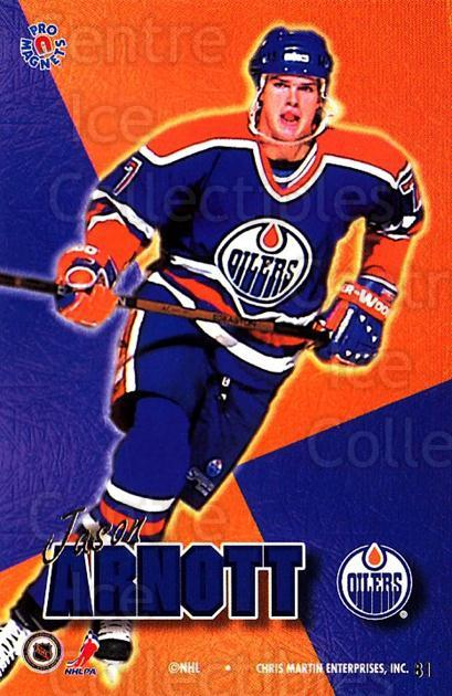 1995-96 Pro Magnets Promo #81 Jason Arnott<br/>1 In Stock - $10.00 each - <a href=https://centericecollectibles.foxycart.com/cart?name=1995-96%20Pro%20Magnets%20Promo%20%2381%20Jason%20Arnott...&quantity_max=1&price=$10.00&code=324222 class=foxycart> Buy it now! </a>
