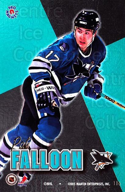 1995-96 Pro Magnets Promo #116 Pat Falloon<br/>2 In Stock - $10.00 each - <a href=https://centericecollectibles.foxycart.com/cart?name=1995-96%20Pro%20Magnets%20Promo%20%23116%20Pat%20Falloon...&quantity_max=2&price=$10.00&code=324239 class=foxycart> Buy it now! </a>
