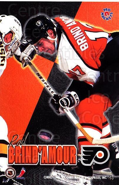1995-96 Pro Magnets Promo #46 Rod Brind'Amour<br/>1 In Stock - $10.00 each - <a href=https://centericecollectibles.foxycart.com/cart?name=1995-96%20Pro%20Magnets%20Promo%20%2346%20Rod%20Brind'Amour...&quantity_max=1&price=$10.00&code=324255 class=foxycart> Buy it now! </a>