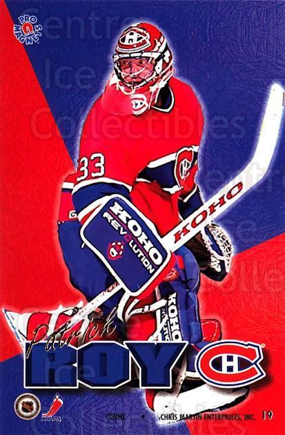 1995-96 Pro Magnets Promo #18 Patrick Roy<br/>1 In Stock - $30.00 each - <a href=https://centericecollectibles.foxycart.com/cart?name=1995-96%20Pro%20Magnets%20Promo%20%2318%20Patrick%20Roy...&quantity_max=1&price=$30.00&code=324299 class=foxycart> Buy it now! </a>