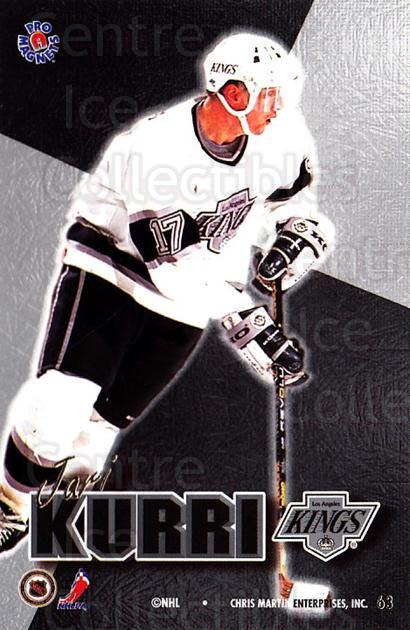 1995-96 Pro Magnets Promo #63 Jari Kurri<br/>1 In Stock - $10.00 each - <a href=https://centericecollectibles.foxycart.com/cart?name=1995-96%20Pro%20Magnets%20Promo%20%2363%20Jari%20Kurri...&quantity_max=1&price=$10.00&code=324312 class=foxycart> Buy it now! </a>