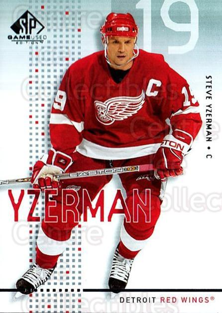 2002-03 SP Game Used #17 Steve Yzerman<br/>1 In Stock - $5.00 each - <a href=https://centericecollectibles.foxycart.com/cart?name=2002-03%20SP%20Game%20Used%20%2317%20Steve%20Yzerman...&quantity_max=1&price=$5.00&code=324330 class=foxycart> Buy it now! </a>