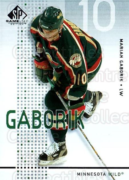 2002-03 SP Game Used #24 Marian Gaborik<br/>11 In Stock - $2.00 each - <a href=https://centericecollectibles.foxycart.com/cart?name=2002-03%20SP%20Game%20Used%20%2324%20Marian%20Gaborik...&quantity_max=11&price=$2.00&code=324331 class=foxycart> Buy it now! </a>