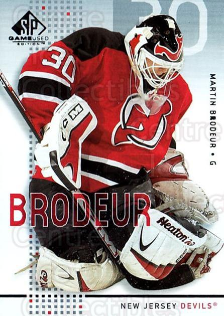2002-03 SP Game Used #28 Martin Brodeur<br/>1 In Stock - $5.00 each - <a href=https://centericecollectibles.foxycart.com/cart?name=2002-03%20SP%20Game%20Used%20%2328%20Martin%20Brodeur...&quantity_max=1&price=$5.00&code=324333 class=foxycart> Buy it now! </a>