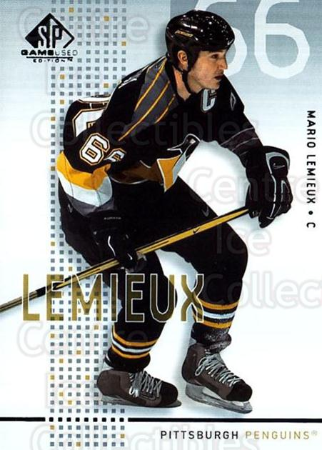 2002-03 SP Game Used #40 Mario Lemieux<br/>1 In Stock - $5.00 each - <a href=https://centericecollectibles.foxycart.com/cart?name=2002-03%20SP%20Game%20Used%20%2340%20Mario%20Lemieux...&quantity_max=1&price=$5.00&code=324336 class=foxycart> Buy it now! </a>