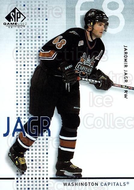 2002-03 SP Game Used #50 Jaromir Jagr<br/>5 In Stock - $5.00 each - <a href=https://centericecollectibles.foxycart.com/cart?name=2002-03%20SP%20Game%20Used%20%2350%20Jaromir%20Jagr...&quantity_max=5&price=$5.00&code=324339 class=foxycart> Buy it now! </a>