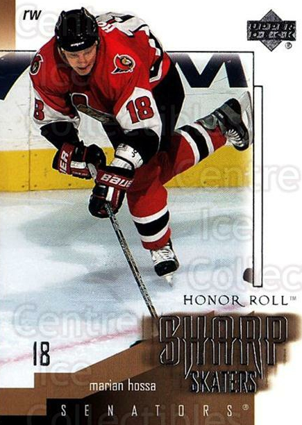 2001-02 UD Honor Roll Sharp Skaters #5 Marian Hossa<br/>1 In Stock - $3.00 each - <a href=https://centericecollectibles.foxycart.com/cart?name=2001-02%20UD%20Honor%20Roll%20Sharp%20Skaters%20%235%20Marian%20Hossa...&quantity_max=1&price=$3.00&code=324406 class=foxycart> Buy it now! </a>