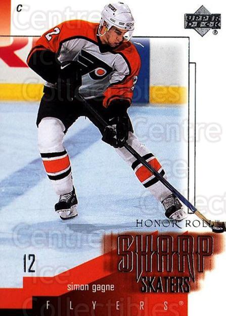2001-02 UD Honor Roll Sharp Skaters #6 Simon Gagne<br/>2 In Stock - $3.00 each - <a href=https://centericecollectibles.foxycart.com/cart?name=2001-02%20UD%20Honor%20Roll%20Sharp%20Skaters%20%236%20Simon%20Gagne...&quantity_max=2&price=$3.00&code=324407 class=foxycart> Buy it now! </a>