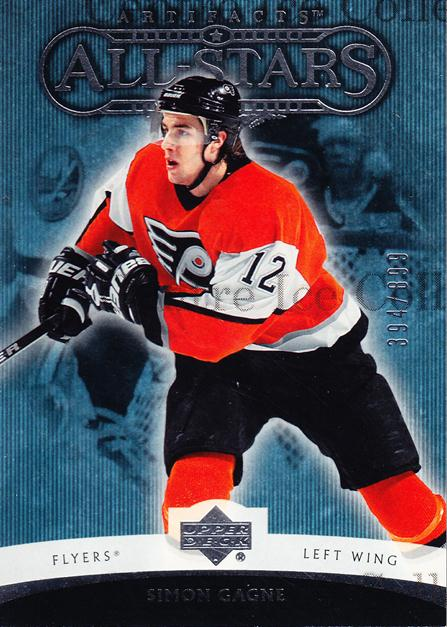 2005-06 UD Artifacts #186 Simon Gagne<br/>6 In Stock - $3.00 each - <a href=https://centericecollectibles.foxycart.com/cart?name=2005-06%20UD%20Artifacts%20%23186%20Simon%20Gagne...&quantity_max=6&price=$3.00&code=326012 class=foxycart> Buy it now! </a>