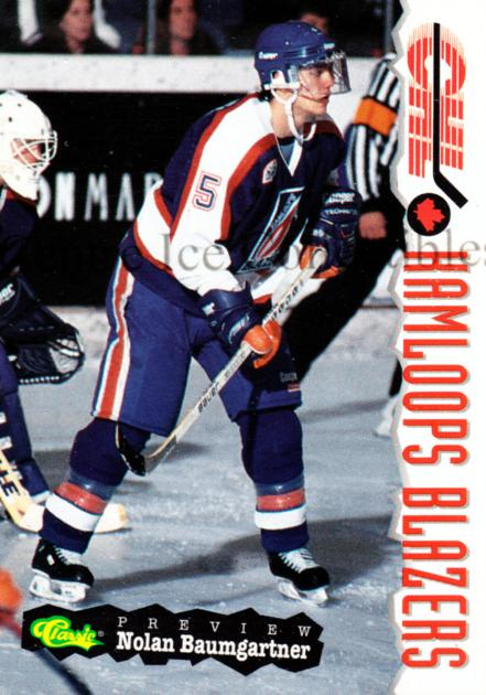 1994 Classic Hockey CHL Previews Inserts #6 Nolan Baumgartner<br/>4 In Stock - $3.00 each - <a href=https://centericecollectibles.foxycart.com/cart?name=1994%20Classic%20Hockey%20CHL%20Previews%20Inserts%20%236%20Nolan%20Baumgartn...&quantity_max=4&price=$3.00&code=3263 class=foxycart> Buy it now! </a>