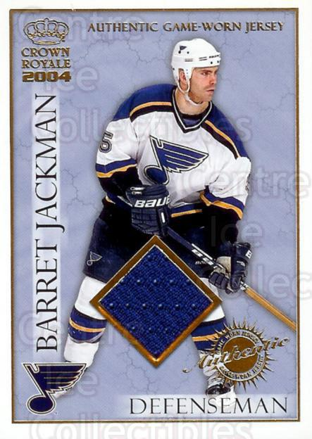 2003-04 Crown Royale Jersey #21 Barret Jackman<br/>1 In Stock - $5.00 each - <a href=https://centericecollectibles.foxycart.com/cart?name=2003-04%20Crown%20Royale%20Jersey%20%2321%20Barret%20Jackman...&quantity_max=1&price=$5.00&code=327131 class=foxycart> Buy it now! </a>