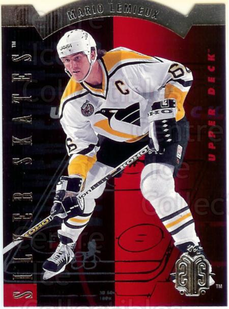 1993-94 Upper Deck Silver Skates Hobby #1 Mario Lemieux<br/>6 In Stock - $5.00 each - <a href=https://centericecollectibles.foxycart.com/cart?name=1993-94%20Upper%20Deck%20Silver%20Skates%20Hobby%20%231%20Mario%20Lemieux...&quantity_max=6&price=$5.00&code=327220 class=foxycart> Buy it now! </a>